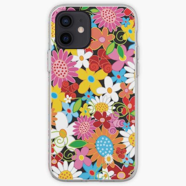 Whimsical Spring Flower Power Garden II iPhone Soft Case