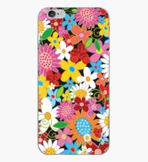 Whimsical Spring Flowers Power Garden II iPhone Case
