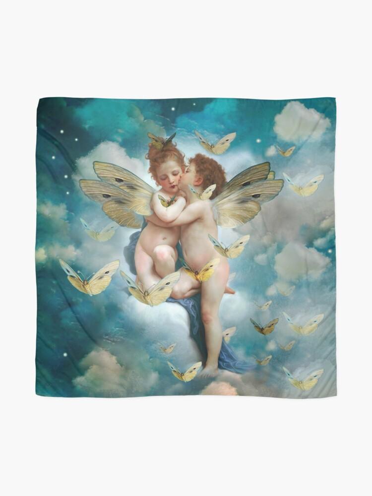 "Vista alternativa de Pañuelo ""Angels in love in heaven with butterflies"""