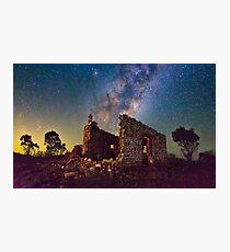 Crumbling Walls in Starlight Photographic Print