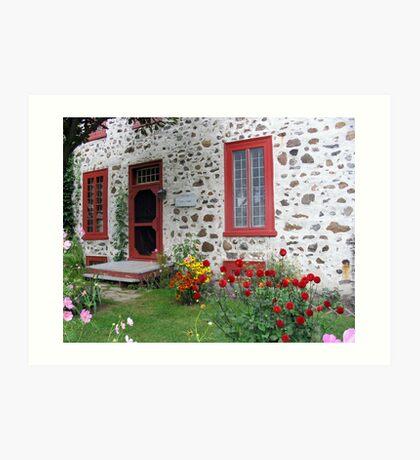 The Stone House Quebec          Art Print