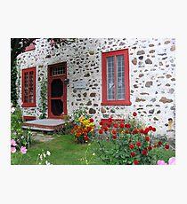 The Stone House Quebec          Photographic Print