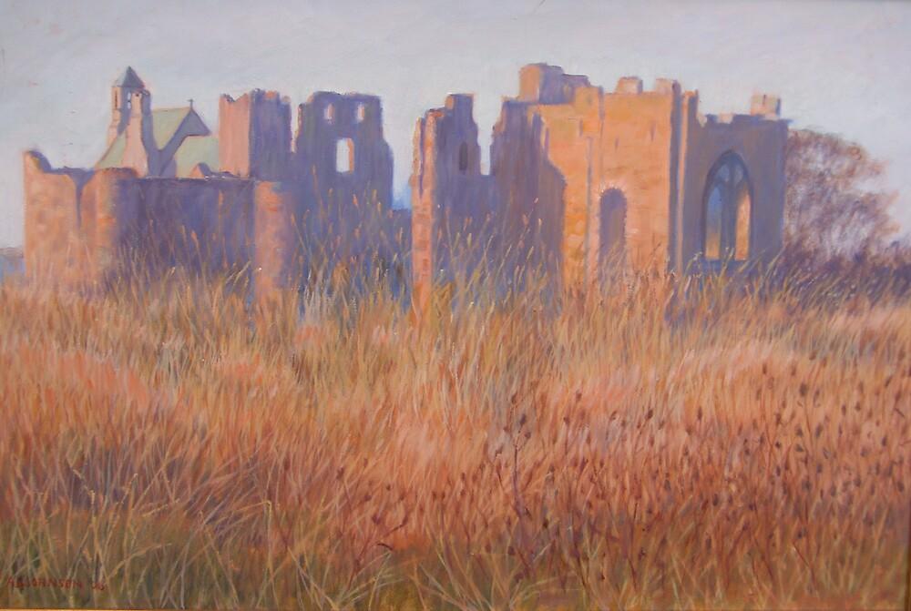 Lindisfarne Priory by stragglydan