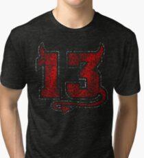 Lucky Devil 13 Distressed Tri-blend T-Shirt