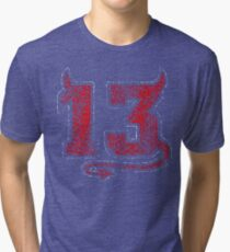 Lucky Devil 13 Distressed Tri-blend T-Shirt