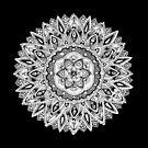Zendoodle flower mandala by tekslusdesign
