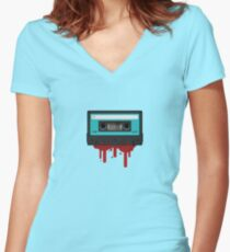 The death of the tape Women's Fitted V-Neck T-Shirt