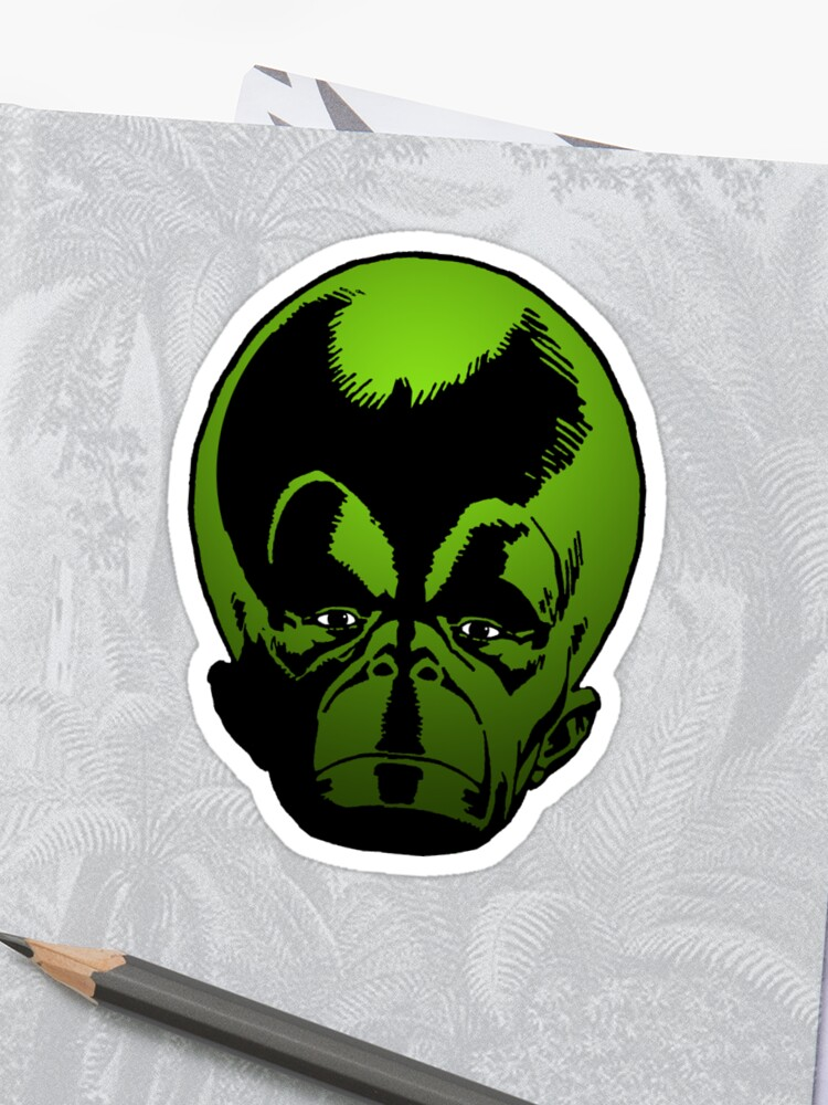Green Head Second Sticker Prom11Redbubble By Mekon The Big SqUzMpGV