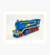 LEGO Train Engine Art Print