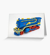 LEGO Train Engine Greeting Card