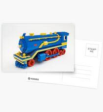 LEGO Train Engine Postcards