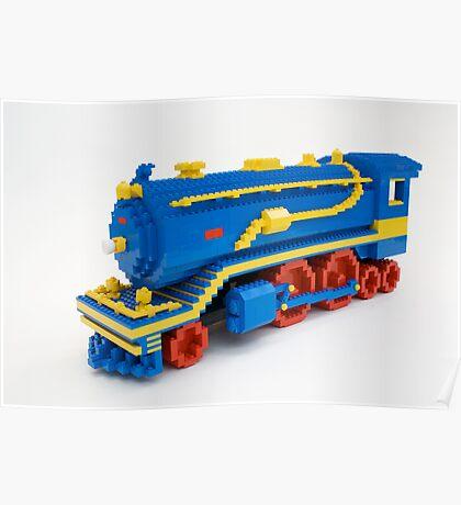 LEGO Train Engine Poster