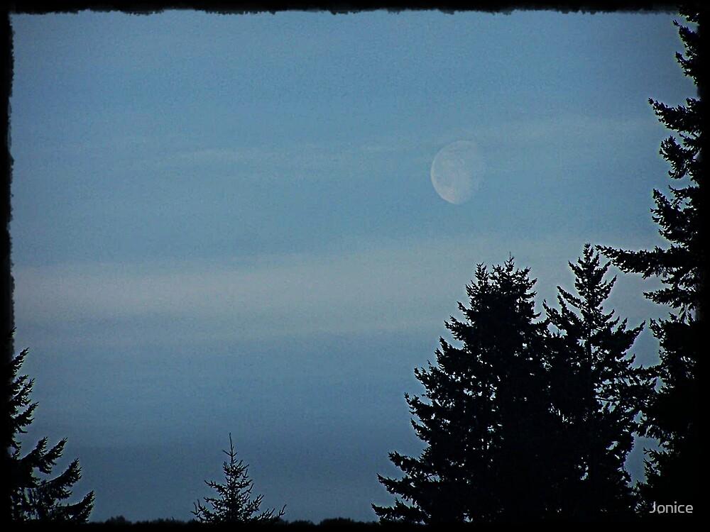 Moon Showing It's Presence by Jonice