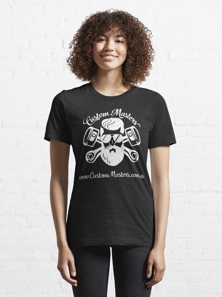 Alternate view of White Custom Masters  Essential T-Shirt