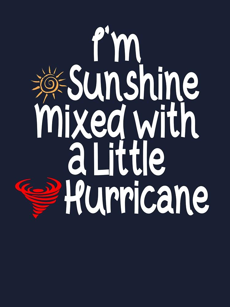 Gemini Girls are Sunshine Mixed with A Little Hurricane Shirt Tshirt Tank Top