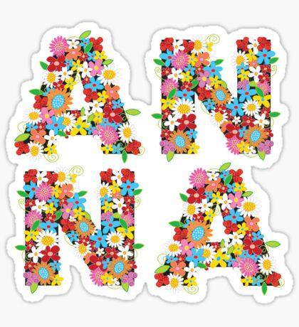 Spring Flowers ANNA Sticker