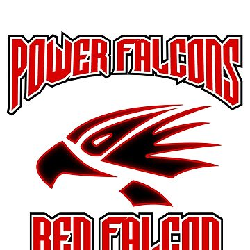 "power falcons ""red"" by DerezzedDigital"