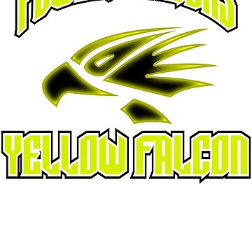 "power falcons ""yellow"" by DerezzedDigital"