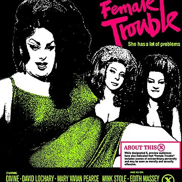 FEMALE TROUBLE John Waters Divine by shnooks