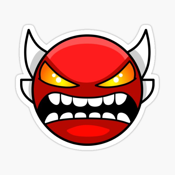 Geometry dash Insane demon Sticker