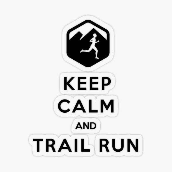 keep calm and trail run design Pegatina transparente