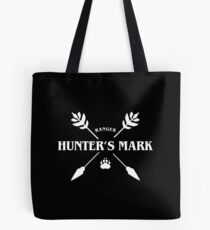 Ranger Hunter's Mark Slaying Dragons in Dungeons DnD Tote Bag