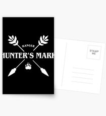 Ranger Hunter's Mark Slaying Dragons in Dungeons DnD Postcards