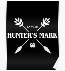 Ranger Hunter's Mark Slaying Dragons in Dungeons DnD Poster