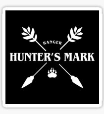Ranger Hunter's Mark Slaying Dragons in Dungeons DnD Sticker