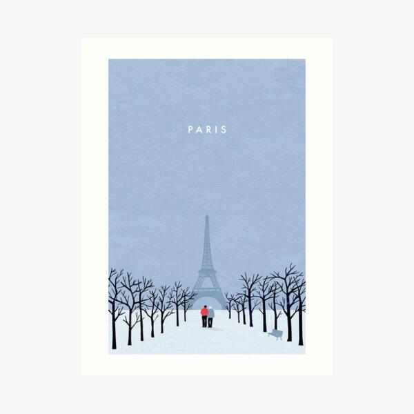 Paris Travel Poster Kunstdruck
