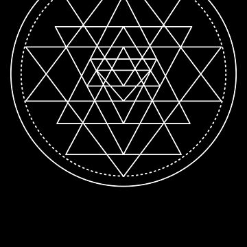 Sacred Geometry - Sri Yantra by PinkFoxDesigns