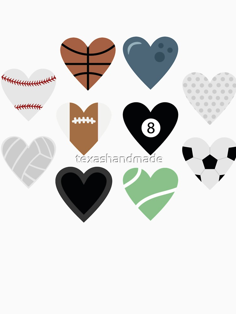 Sports lover and tennis bowling soccer baseball golf pool billiards by texashandmade