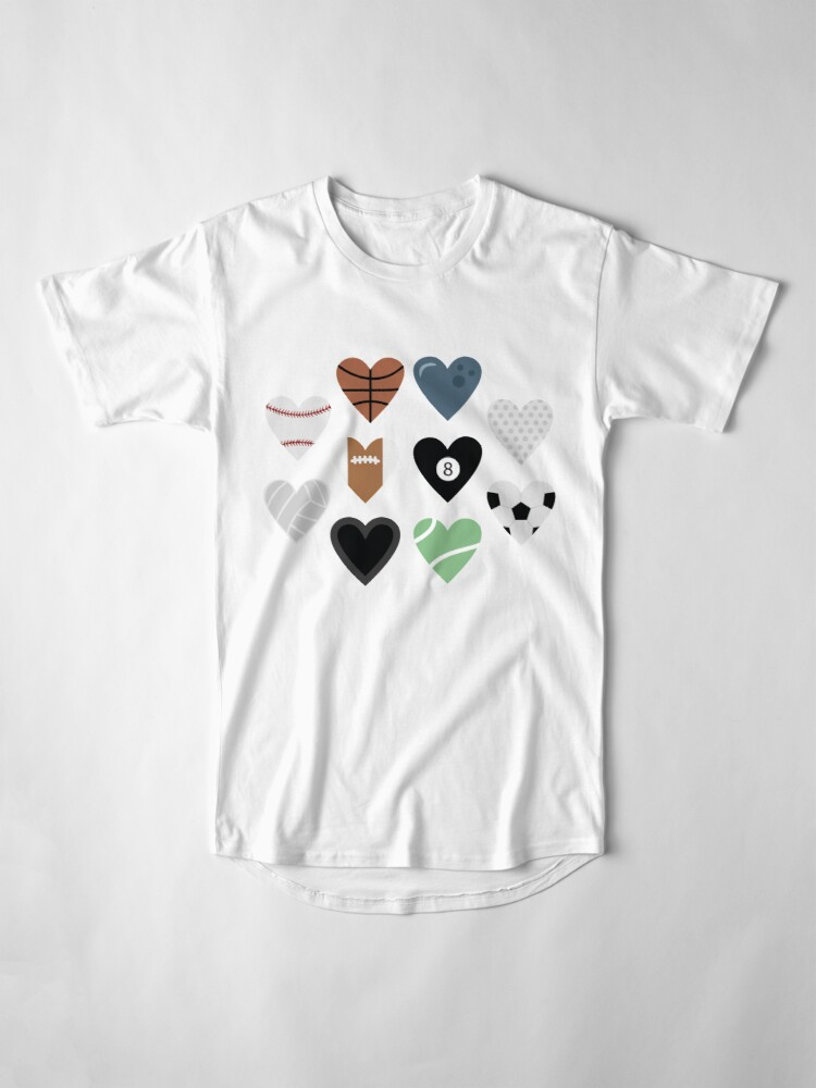 Alternate view of Sports lover and tennis bowling soccer baseball golf pool billiards Long T-Shirt