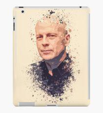 Bruce Willis splatter painting iPad Case/Skin