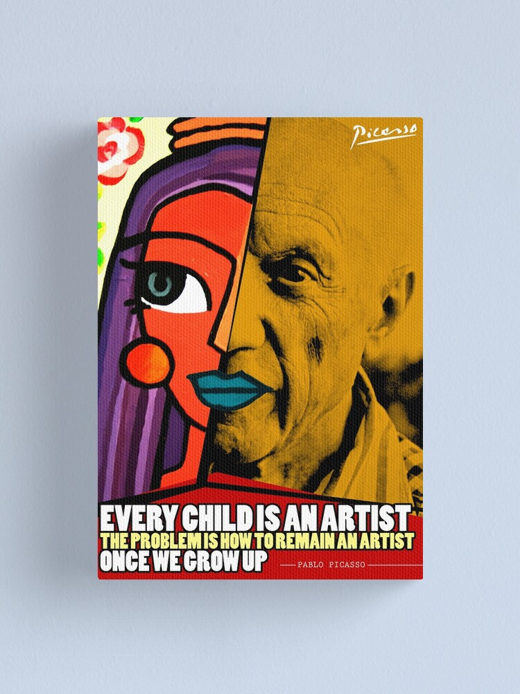 Alternate view of Pablo Picasso Quote Canvas Print