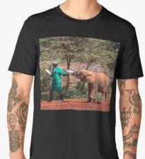 Kenya. Nairobi. David Sheldrick Wildlife Trust. Elephant Orphanage. Men's Premium T-Shirt