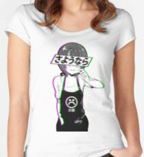 GOODBYE - Sad Japanese Aesthetic  Women's Fitted Scoop T-Shirt