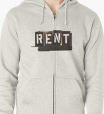 RENT Musical Zipped Hoodie
