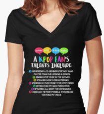 A KPOP FAN'S TALENTS Women's Fitted V-Neck T-Shirt