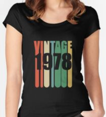 40th Birthday Retro Design - Vintage 1978 Women's Fitted Scoop T-Shirt