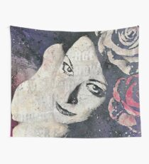 Sick On Sunday: Violet (pin up with roses graffiti portrait) Wall Tapestry