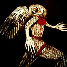 angel with scabbed wings by Vimm