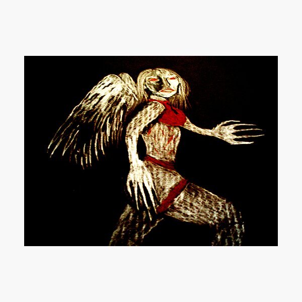 angel with scabbed wings Photographic Print