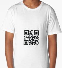 "QR -code ""Bad Motherfucker"" Long T-Shirt"