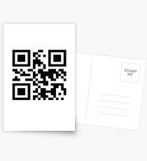 """QR -code """"Bad Motherfucker"""" Postcards"""