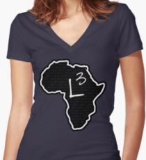 The Haplogroup in You - L3 Women's Fitted V-Neck T-Shirt