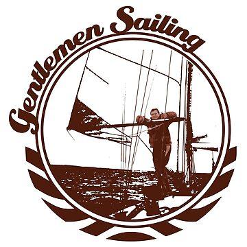Gentlemen Sailing Brown by craftyordie