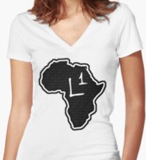 The Haplogroup in You - L1 Women's Fitted V-Neck T-Shirt