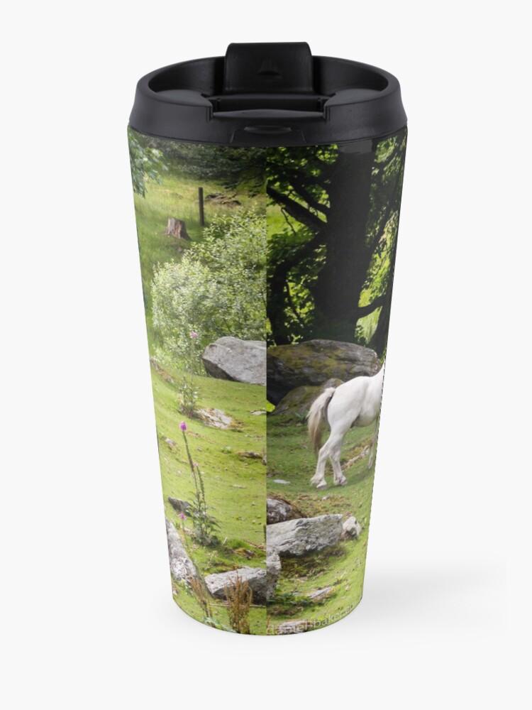 Alternate view of Mythical Horses Travel Mug
