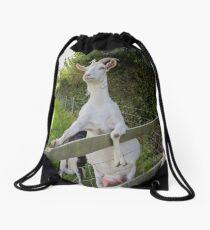 Hello Goat Drawstring Bag